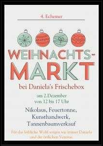 Weihnachtsmarkt bei Danielas Frischebox @ Danielas Frischebox | Echem | Niedersachsen | Deutschland