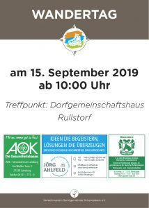 Wandertag - Start in Rullstorf
